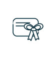 tag bow happy christmas line icon vector image vector image
