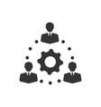 teamwork teamwork solution icon vector image