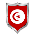 Tunisia flag button vector image vector image
