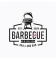 vintage grill barbecue logo design rustic retro vector image vector image