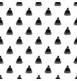 woolen hat pattern vector image vector image