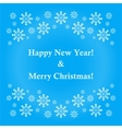 banner or card with snowflakes as a vector image
