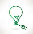 green bulb with plug abstract icon vector image