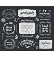 set of hand drawn doodle frames badges vector image