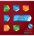 Glass Market Stickers vector image