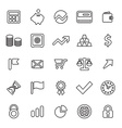 25 outline universal finance icons vector image