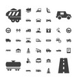 37 car icons vector image vector image