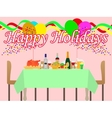a festive table vector image vector image