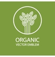 abstract organic emblem vector image