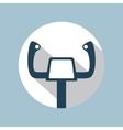 Aircraft Control Wheel Icon vector image vector image
