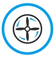 Aircraft Screw Rotation Icon vector image vector image