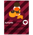 autumn color isometric poster vector image