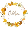 autumn frame consisting of twigs leaves vector image vector image