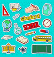 back to school stickers badges and patches vector image vector image