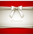 background with white bow vector image vector image