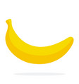 banana flat material design isolated object on vector image vector image