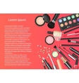 Beauty cosmetics Makeup with cosmetic tools vector image vector image