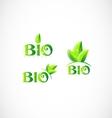 Bio eco logo icon set vector image vector image