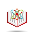 book school open and atom vector image
