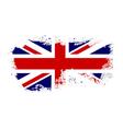 british flag grunge-04 vector image vector image