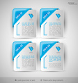 Business infographics template for web design vector image