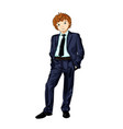 business man child vector image vector image