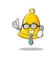 businessman school bell character cartoon