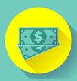 cash dollar icon in flat style - usa money vector image
