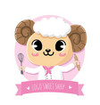 chef sheep sweet vector image vector image