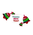Christmas banner with baubles vector image vector image