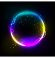 Colorful glowing circle background vector image