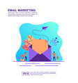 concept email marketing modern conceptual for vector image vector image