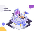 digital download isometric modern flat design vector image vector image