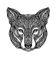 Ethnic ornamented wolf head vector image vector image