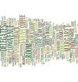 event etiquette text background word cloud concept vector image vector image