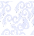 Feather pattern on transparent background vector image vector image