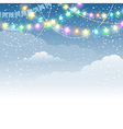Festive Christmas garland vector image vector image