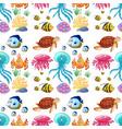 fun seamless pattern of marine life vector image vector image