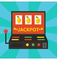 gambling casino elements jackpot playing vector image