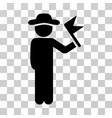 gentleman with flag icon vector image vector image