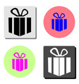 gift flat icon vector image vector image