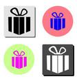 gift flat icon vector image