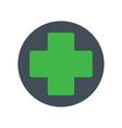green cross medical symbol vector image vector image