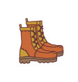 hand drawn boots sketch colored vector image