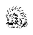 hedgehog animal cartoon character vector image