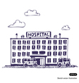 Hospital building vector | Price: 1 Credit (USD $1)