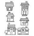 house set collection hand draw vector image vector image