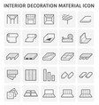 interior icon design vector image vector image