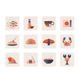 japanese foods icon vector image vector image