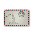 Letter from New York with Statue of Liberty vector image